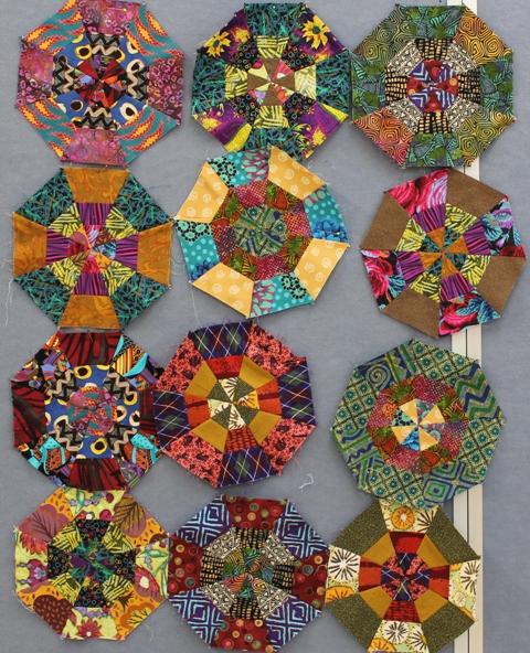 Tricia made some blocks